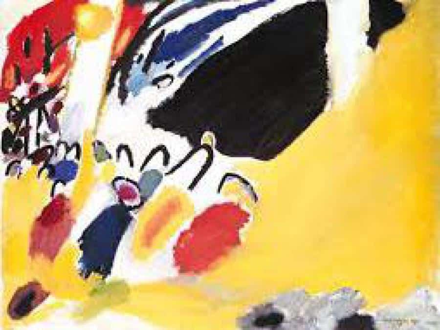 """Gemälde """"Impression IV: Konzert"""" von Wassily Kandinsky im Lenbachhaus"""