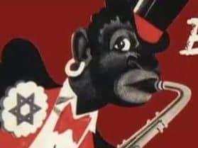 """Plakat aus der Ausstellung """"Entartete Musik"""" von 1938"""