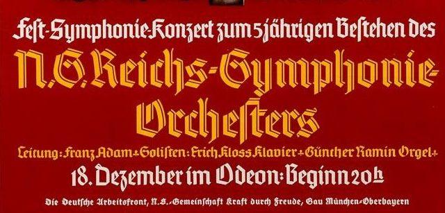 Führung Musikstadt München im NS-Staat: Konzertplakat des Reichs-Symphonie-Orchesters München