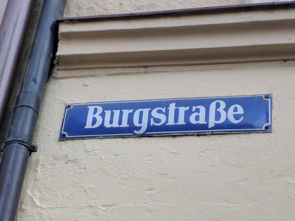 Burgstraße in München - hier wohnte Mozart